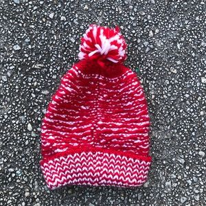 Target red & white striped knit hat